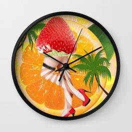 misses  tutti fruity Wall Clock