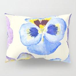pansies pattern watercolor painting Pillow Sham