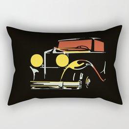 Vector art deco Brussels 1930s auto salon Rectangular Pillow