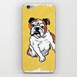 Bulldog Portrait iPhone Skin