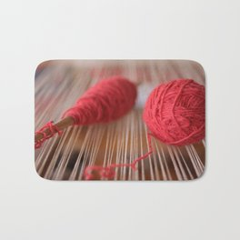 Loom and spindle craft Bath Mat