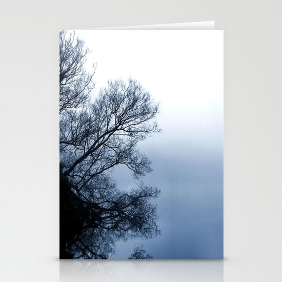 Swans in the Mist Stationery Cards