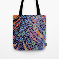 animal crew Tote Bags featuring Animal by Lara Gurney