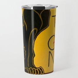 Le Chat Noir The Black Cat Art Nouveau Travel Mug