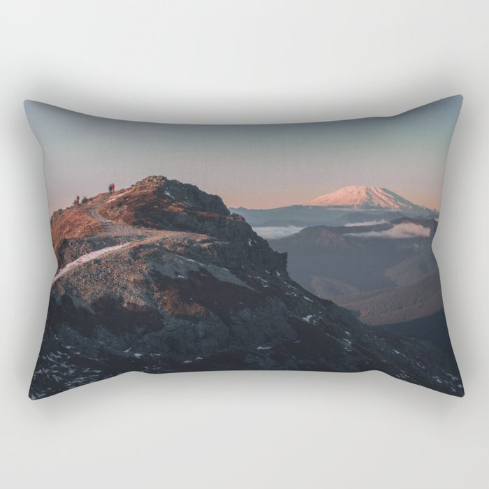 Silver Star Rectangular Pillow