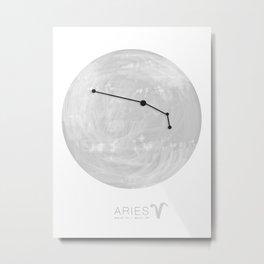 Moon Astrology - Zodiac Aries Metal Print