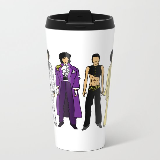 Purple Power Outfits Metal Travel Mug