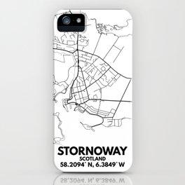 Stornoway Minimalist City Map iPhone Case