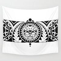 maori Wall Tapestries featuring Maori by Reiv