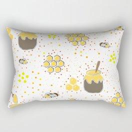 Seamless Pattern with Honey. Scandinavian Style Rectangular Pillow