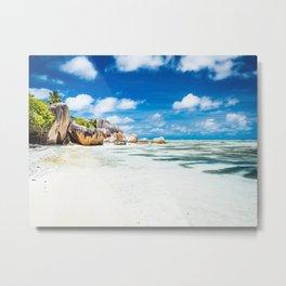 Paradise in Seychelles Metal Print