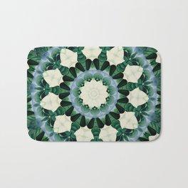 Sacramento Green and Cerulean Blue Mandala Bath Mat