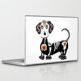 Dachshund Sugar Skull Laptop & iPad Skin