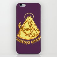 christ iPhone & iPod Skins featuring Cheesus Christ by Lili Batista