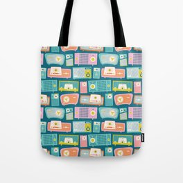 Retro Radios Tote Bag