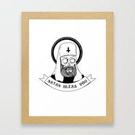 Satan bless you Framed Art Print