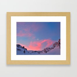 Red sky at night, shepherds delight. Framed Art Print