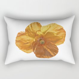 Poppy flower head Rectangular Pillow