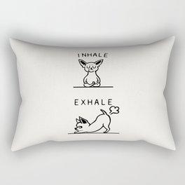 Inhale Exhale Chihuahua Rectangular Pillow