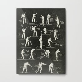 gentlemen prefer tennis Metal Print