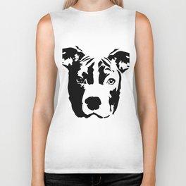 Pit Bull Dog black white Biker Tank