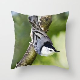 Charming Nuthatch Throw Pillow