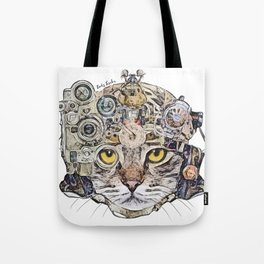 Sci Fi Cat Tote Bag