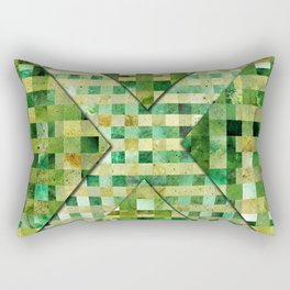 Abstract Geometric Greenish Galaxy Rectangular Pillow