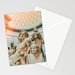 Golden Light Exposure over Greek/Roman White Marble Statue Stationery Cards