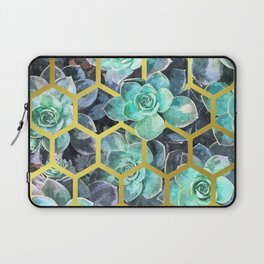 Succulent Geometric Modern Illustration Laptop Sleeve