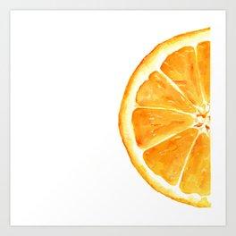 Tutti Frutti. Orange Art Print