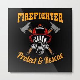 Protect and Rescue Metal Print