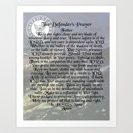 Defender's Prayer - Navy Art Print