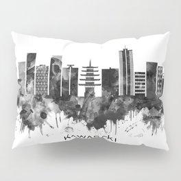 Kawasaki Japan Skyline BW Pillow Sham