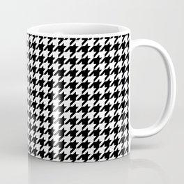Monochrome Black & White Houndstooth Coffee Mug