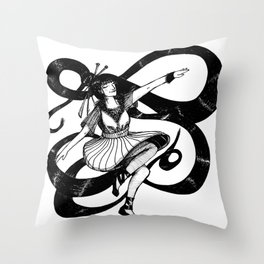 Dancing natural Throw Pillow
