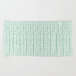 Knit Wave Mint Beach Towel