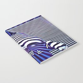 2519s-JPC Blue Striped Nude Woman From Behind Notebook