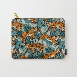 Bengal Tiger Teal Jungle Carry-All Pouch