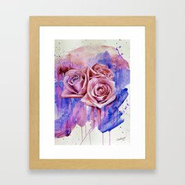 A ROSE BY ANY OTHER NAME- RED & BLUE  Framed Art Print