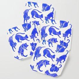 Cat Positions – Blue Palette Coaster