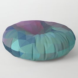 Shades of Amethyst Low Poly Floor Pillow