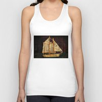 sailboat Tank Tops featuring Rustic Sailboat by Michael P. Moriarty
