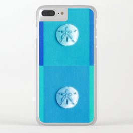 Sand Dollars - multibluegreens! Clear iPhone Case