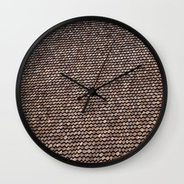 Roof pattern Wall Clock