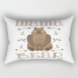 Autism Mama Bear Autistic Child Awareness Day Gift Rectangular Pillow