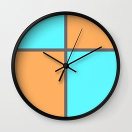 Pastel Cross Wall Clock