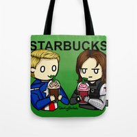 stucky Tote Bags featuring Stucky by ShockingBlankets