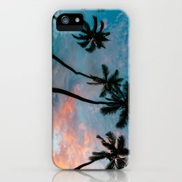 Sunset Palm Trees iPhone Case