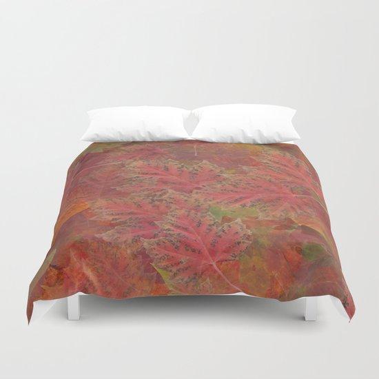 Autumn Reds Duvet Cover